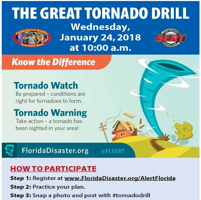 Nws Miami On Twitter 124 Reminder The 2018 Great Tornado Drill