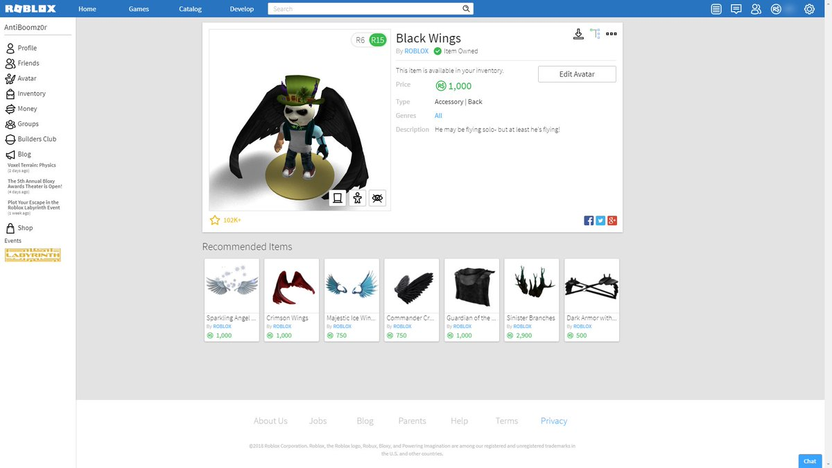 Anti On Twitter Released Btroblox My Roblox Chrome Extension To