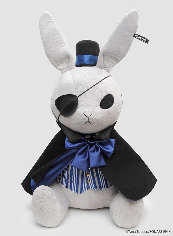 [グッズ]6/22 黒執事 Black Label ファントム社ビッグビターラビット(追加生産分) マント・帽子・洋服着脱可能 サイズ:約62cm(耳まで約87cm) 【予約】