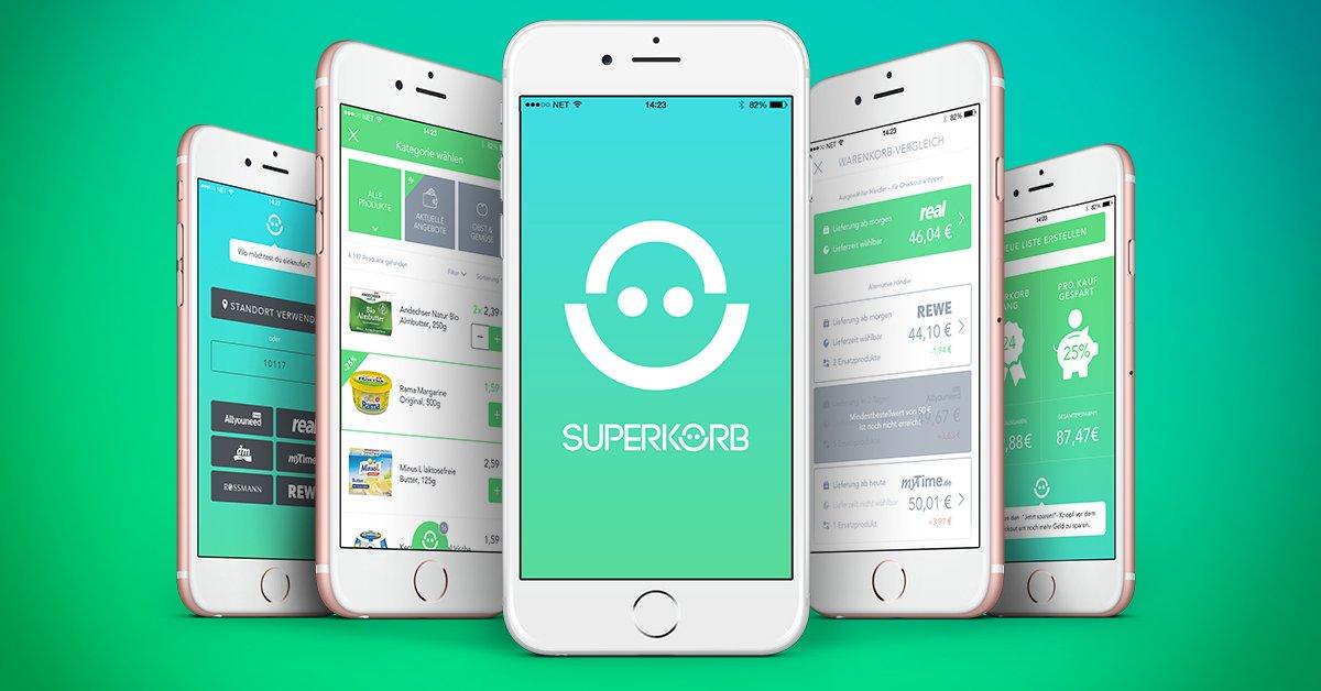Ab sofort könnt Ihr unsere erste #Beta Version testen!🔝  Unter allen #Feedback-Sendern verlosen wir einen 100€ Gutschein beim #Shop deiner Wahl.  Hier geht's zur #SUPERKORB-App:⤵️ https://t.co/JP6fgwKzs8  #supermarkt #startup #betaapp https://t.co/IqhqY5KEQ7