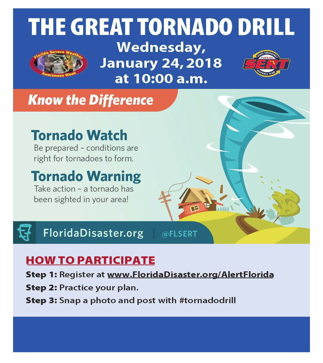 Nws Tampa Bay On Twitter The 2018 Great Tornado Drill Will Take