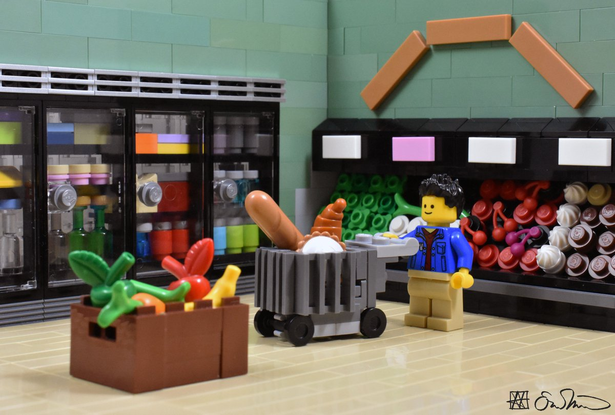 Lego Grad Student On Twitter Shopping For Groceries Late At Night The Grad Student Minimizes His Exposure To Other People