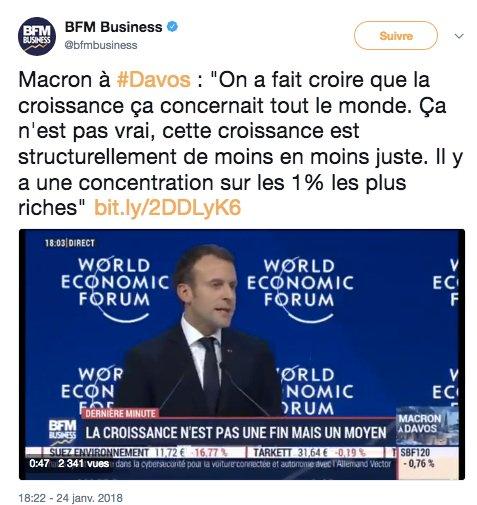 SERIEUX ?   A #Davos @EmmanuelMacron dénonce la concentration des richesses sur les 1%  En France, il a pourtant :  ✅ supprimé #ISF ✅ réduit l'imposition du #capital ✅ augmenté la #CSG ✅ baissé les #APL ✅ refusé tout coup de pouce au #SMIC ✅ ouvert la #ChasseAuxChômeurs