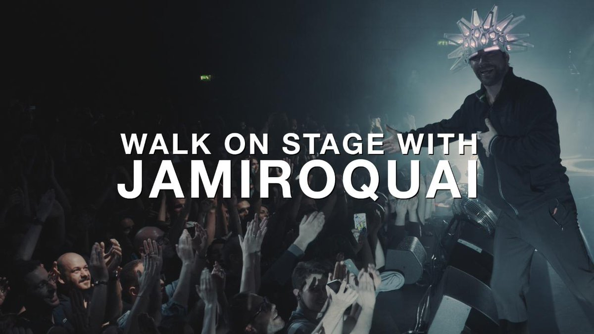 This is what it's like to walk on stage with @JamiroquaiHQ in front of thousands of people