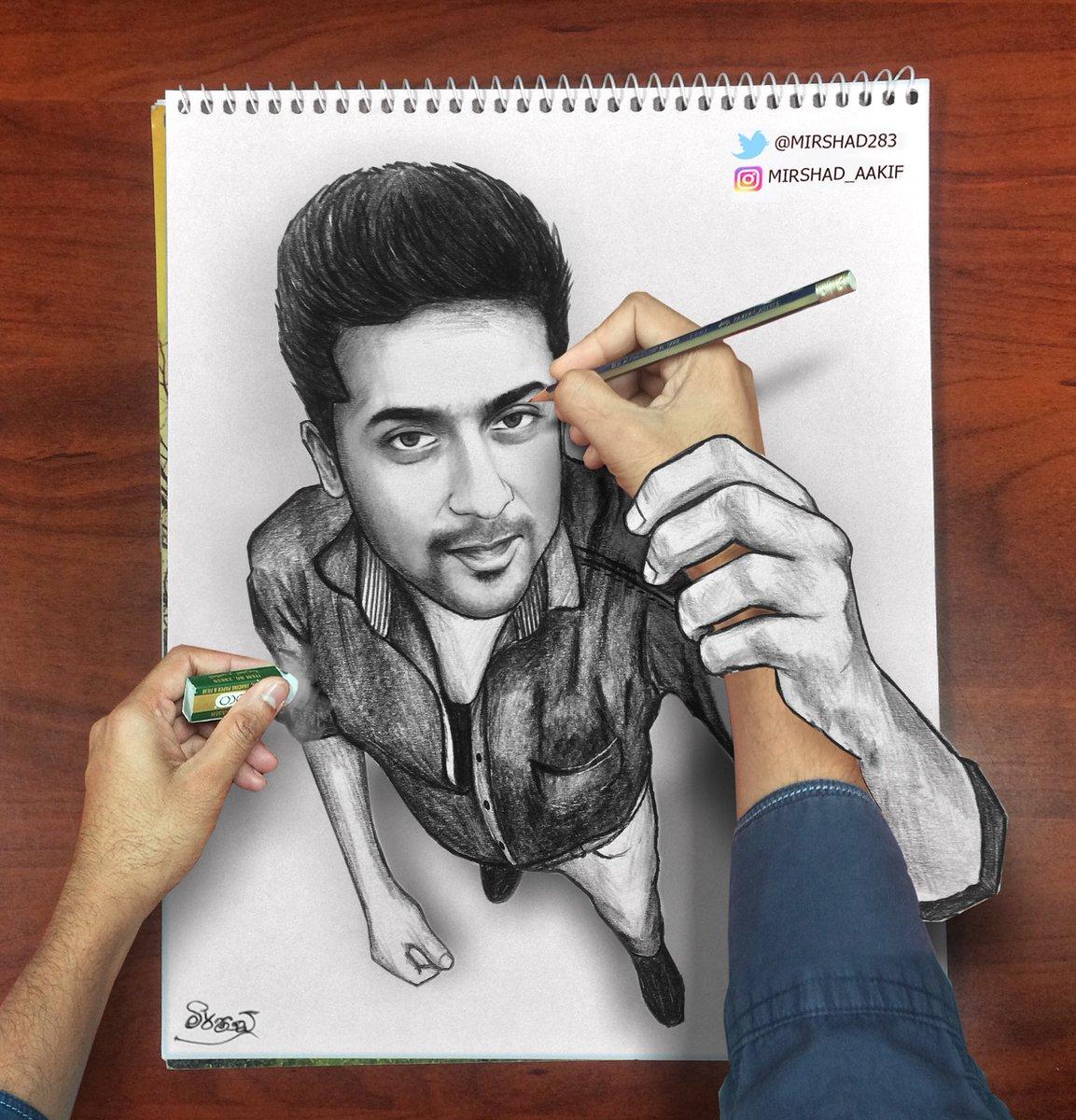 "Cinejosh Com Suriya Following Unbelievable In Telugu: Mirshad On Twitter: ""3d Drawing For @Suriya_offl Hope You"