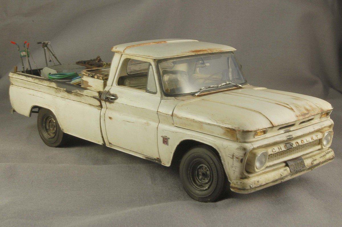 Hobbylinccom On Twitter Wow So Much Detail Excellent Work This 1966 Chevy C10 Fleetside 1 25 Scale Truck Kit Https Revell Monogram Plastic Model 125 857225