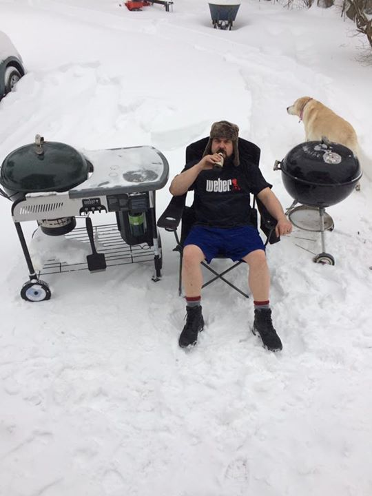 #GrilleroftheWeek, Chris doesn't let a little snow stop him from firing up his Weber Grills. #365Griller