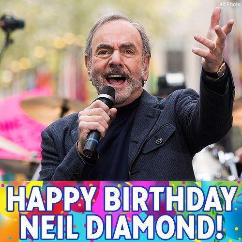 Happy Birthday, Neil Diamond! The singer of popular hits like Sweet Caroline and Cherry, Cherry turns 77 today.