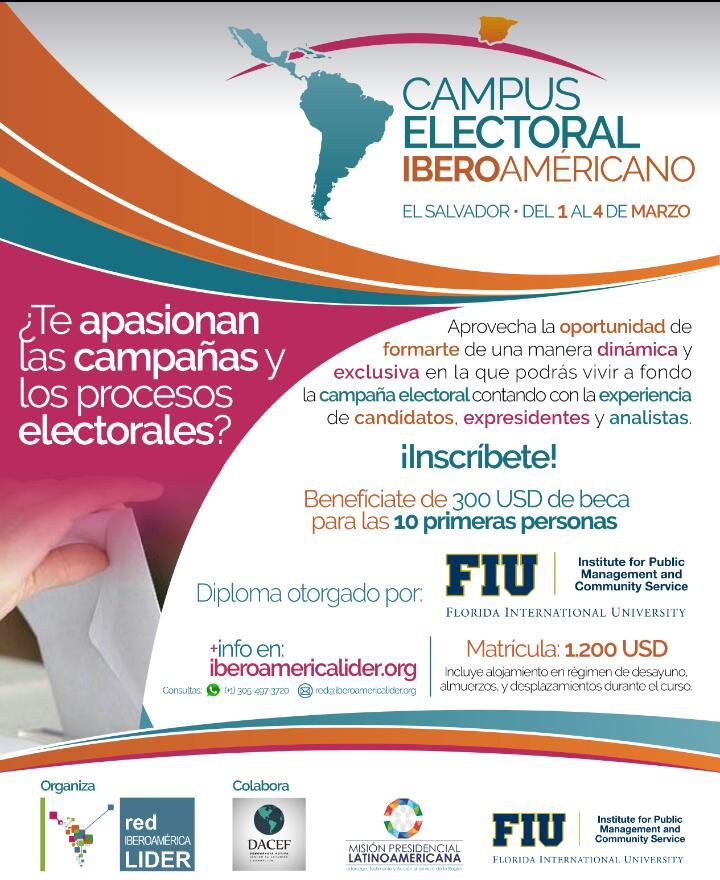 #DACEF tiene el gusto de invitarte a participar del #CampusElectoralIberoamericano  Será una experiencia increíble !!