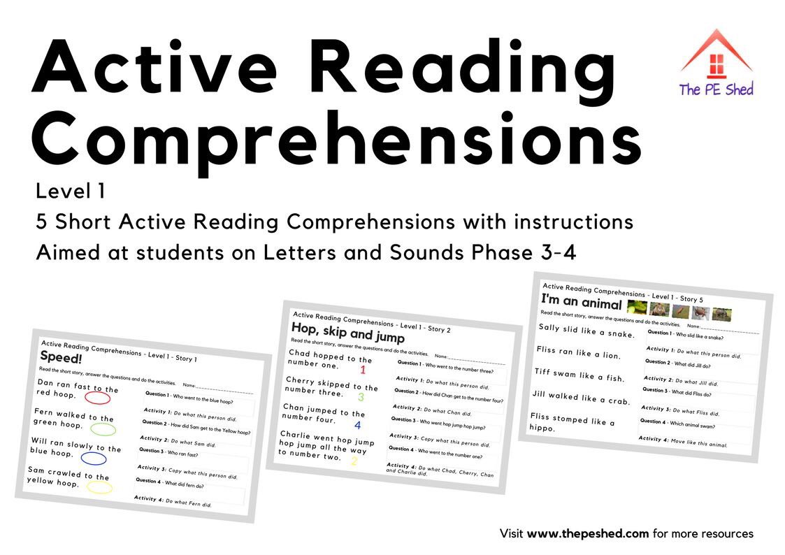 """- The PE Shed Ar Twitter: """"🆕 #Active #Reading #Comprehension"""