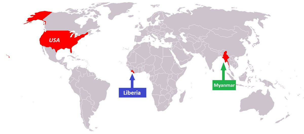 Herid Fel On Twitter Map Of Countries That Don T Use The