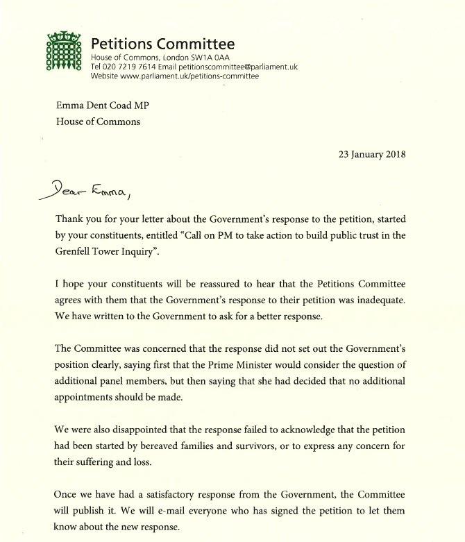 "Emma Dent Coad On Twitter: ""The Prime Minister's Response"