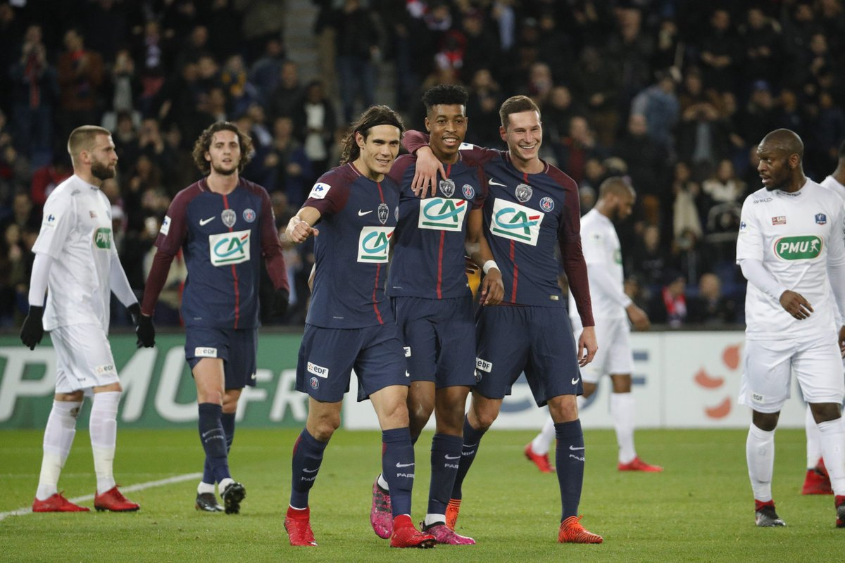 R sultat psg guingamp 4 2 r sum du match et vid os des buts du match de coupe de france du - Resultat match coupe de france ...