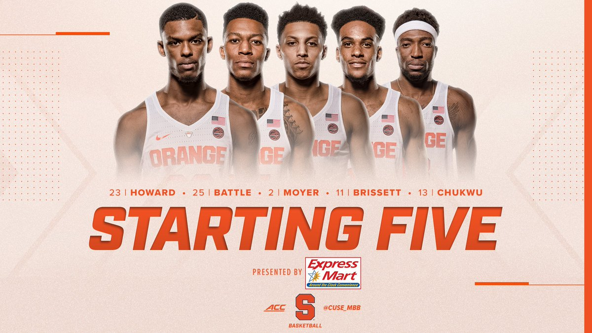 Syracuse Basketball On Twitter The Orange Starting 5 Vs Boston