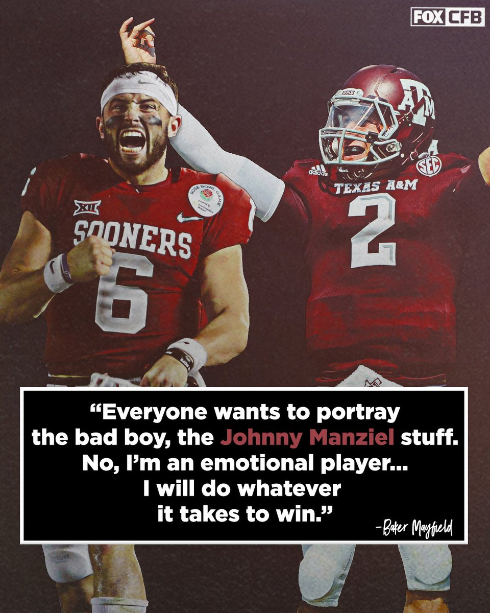 Baker Mayfield is out to prove there is no comparison between him and Johnny Manziel