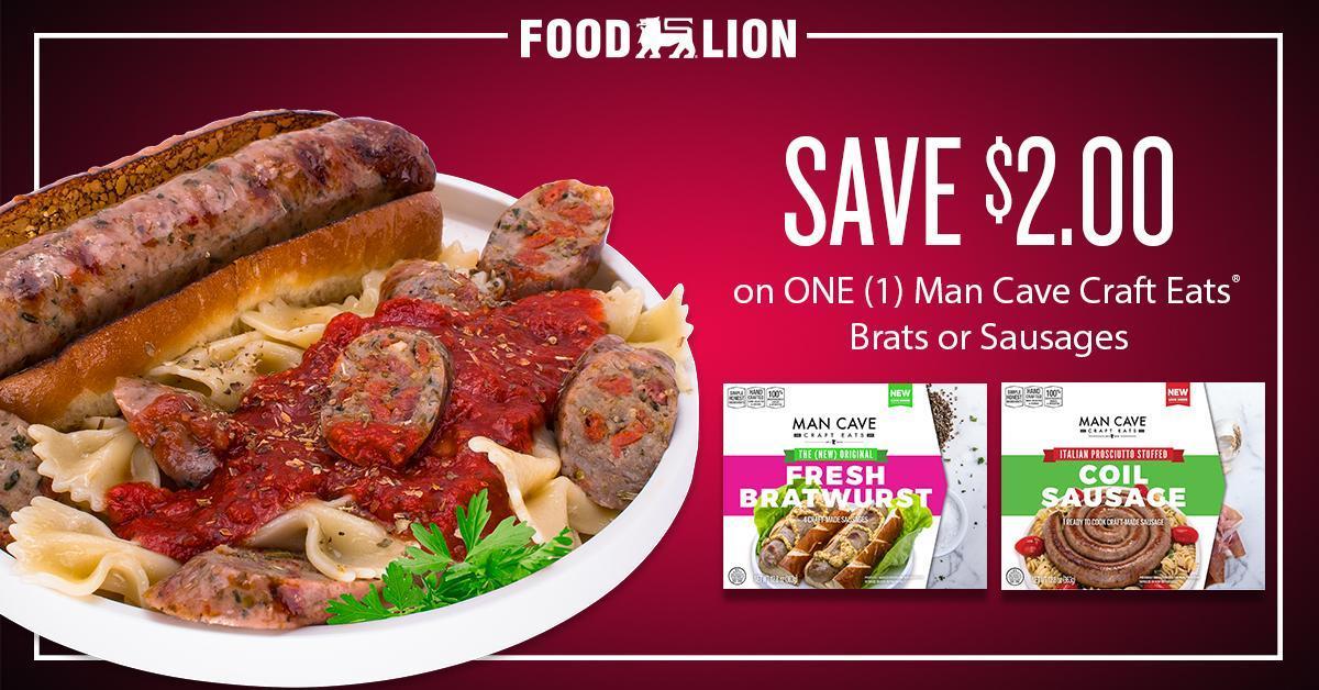 Man Cave Craft Eats Bratwurst : Food lion foodlion twitter