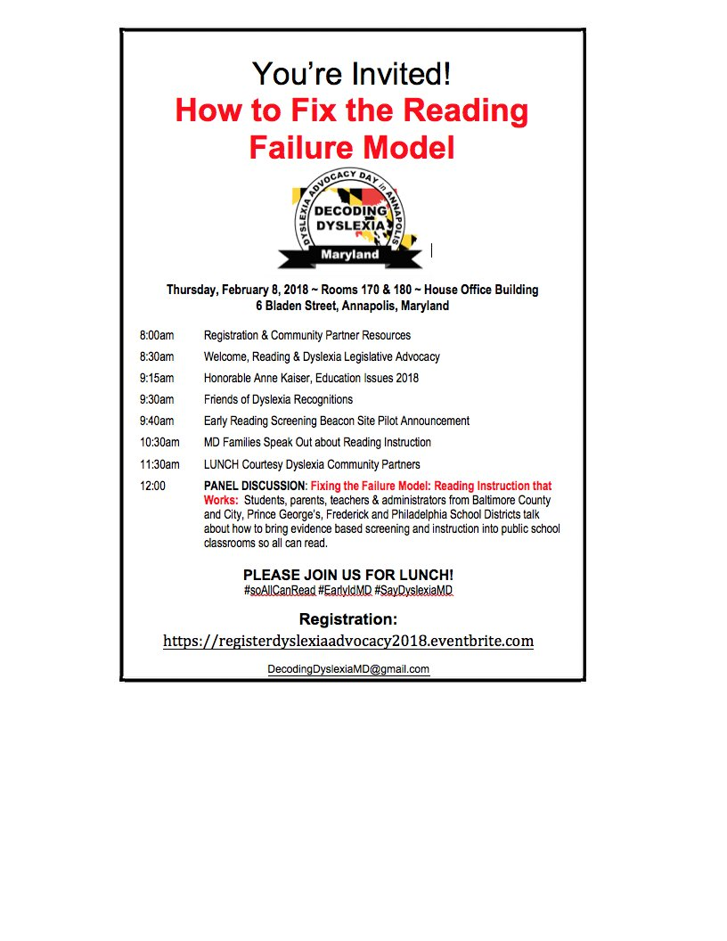 Fixing Failure Model Of Dyslexia >> Decoding Dyslexia Md On Twitter Dyslexia Advocacy Day In
