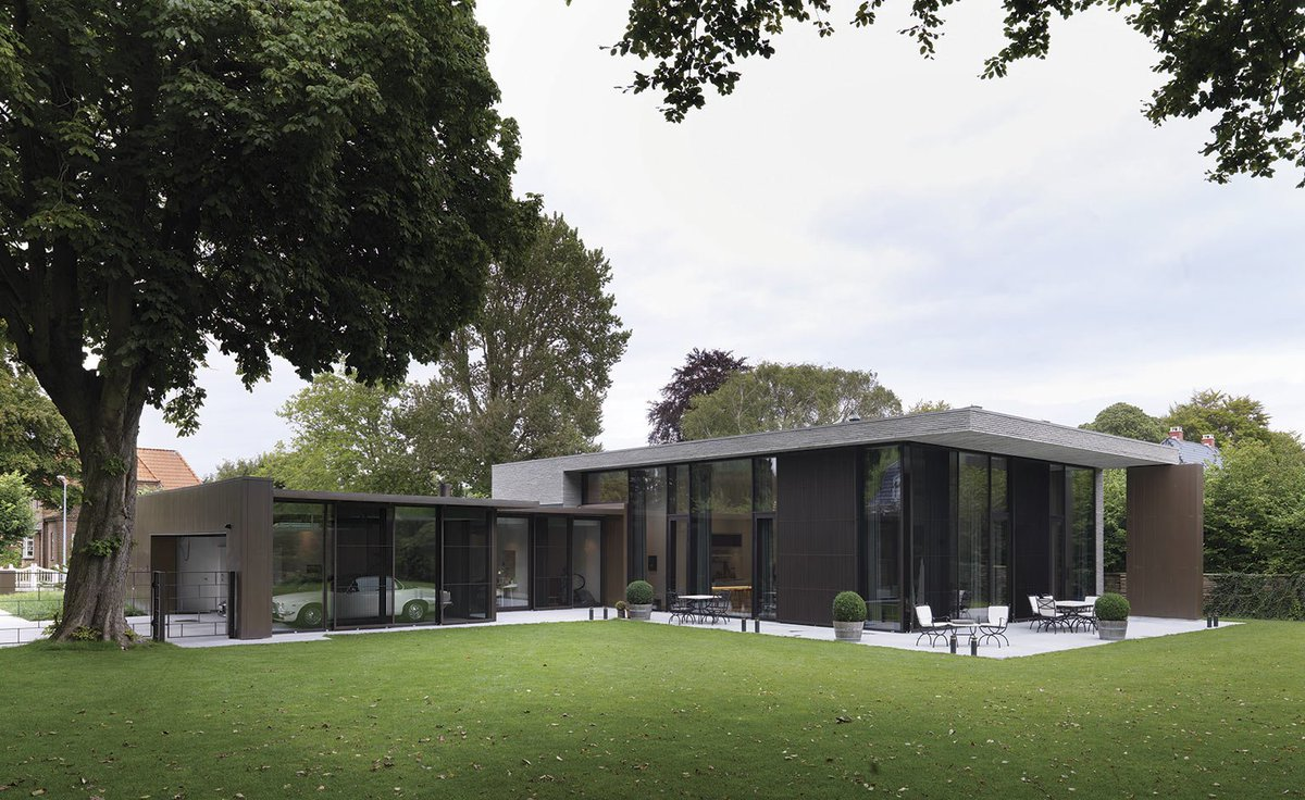 Sunview patio doors on twitter this brick and glass house in this brick and glass house in aalborg is the result of a collaboration between danish architect lars gitz and the owner businessman henrik klindt petersen planetlyrics Choice Image