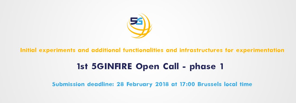 Want to test your #Automotive SW on the top of the #5G infrastructure provided by @5GinFIRE and get #funding for it?  Look at this: The 1st 5GINFIRE #opencall! https://t.co/DoOXu13bQi #NFV #SDN https://t.co/c3Ea6Bhcn9