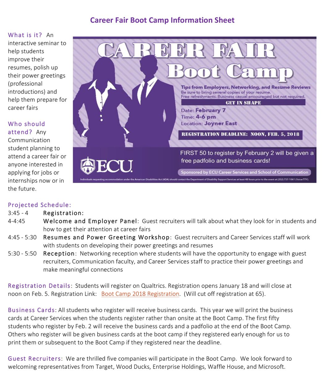 Ecu School Of Comm On Twitter Want Help Polishing Your Resume And