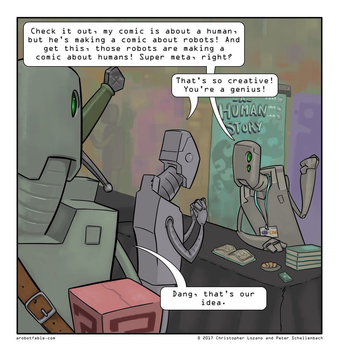 A Human Fable - 21 #robots #webcomic #comics #comicconvention #stolemyidea