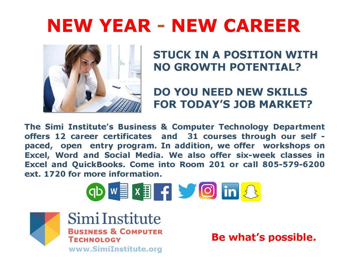 Simi Institute New Year New Career Business