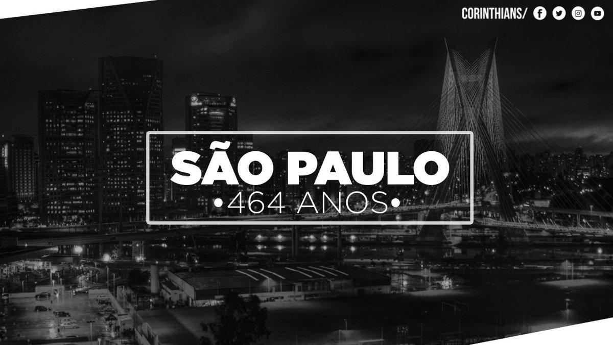 Seu único defeito é não se chamar Corinthians. Parabéns por mais um aniversário, capital paulista!