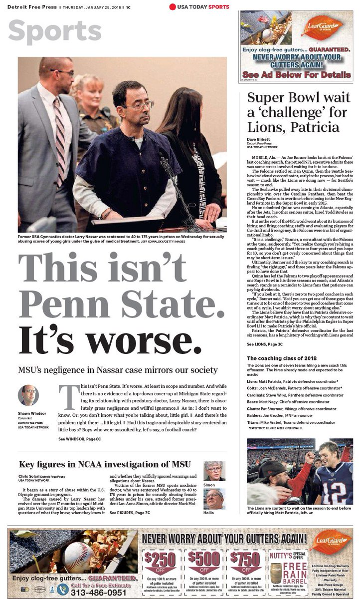 Detroit Free Press On Twitter Thursday S Front Page Of The Detroit Free Press