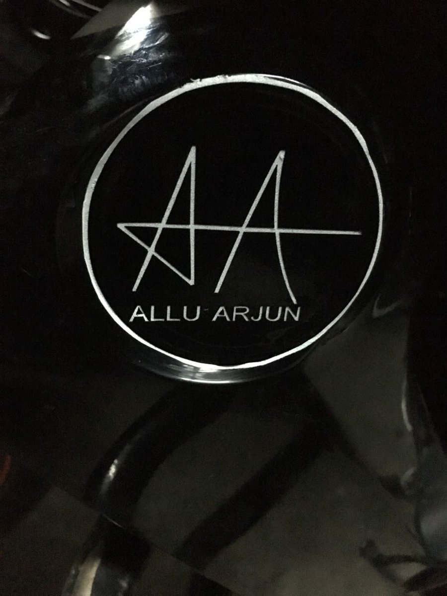 i love my self on twitter alluarjun sticker signature on