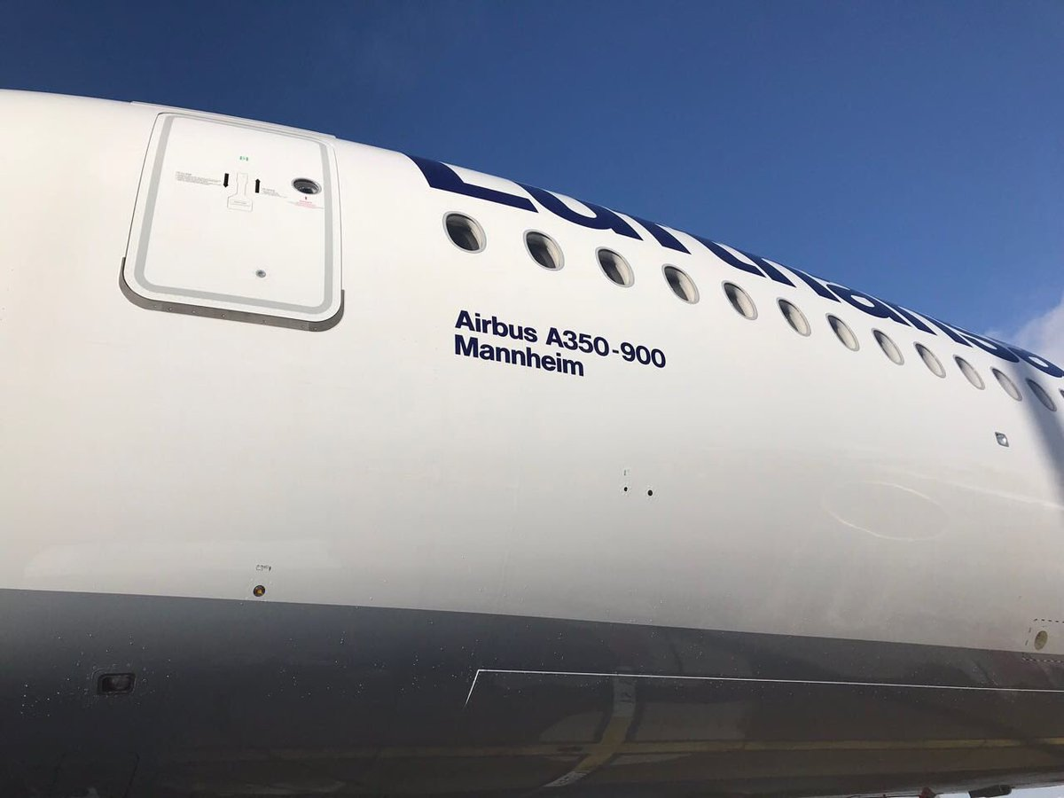 Tomorrow our D-AIXG will fly to her new home @MUC_Airport! To all #avgeeks who want to follow our 7th @Airbus A350 on @flightradar24: it has the flight number LH9985 and will leave TLS around 11 a.m. local time. #LHA350