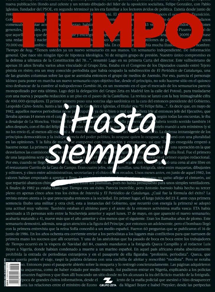 Última portada de @tiempo. Vía @alvaronieto.