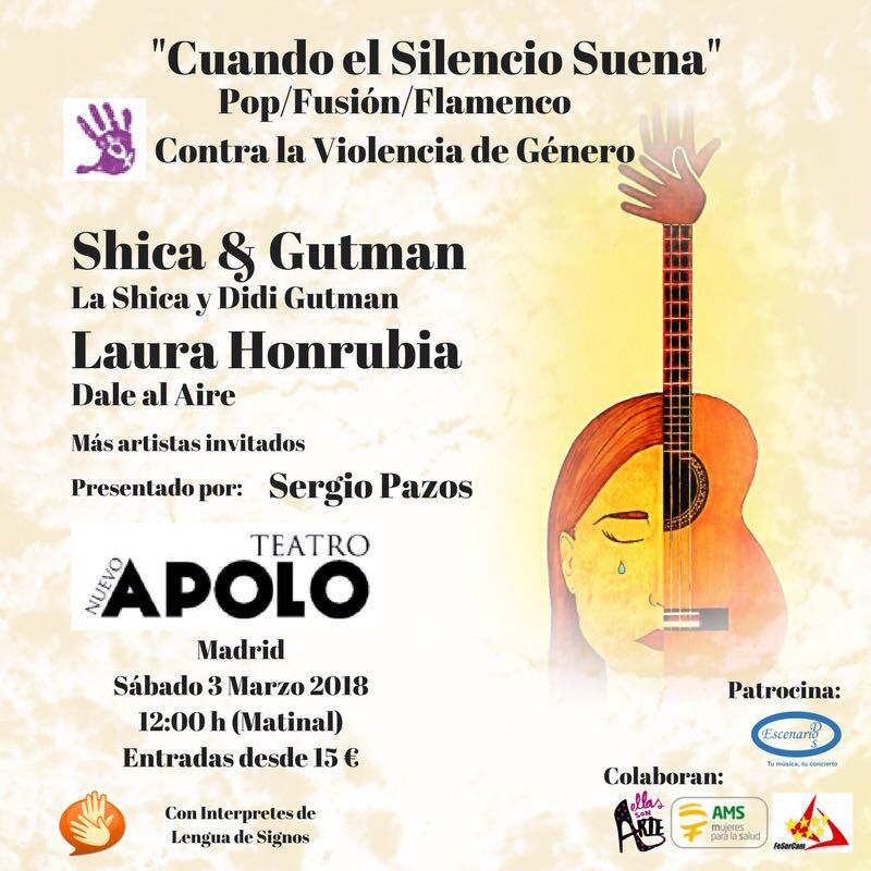 """""""Cuando el Silencio Suena"""" Música contra la Violencia de Género (con LSE) -Madrid, 3 de marzo 2018 DUYo4T2XUAA9CGo"""