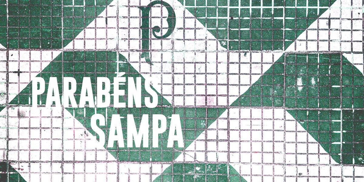Terra da garoa, Sampa, selva de pedra ou, simplesmente, lar do #MaiorCampeãoDoBrasil. Feliz aniversário! #SP464