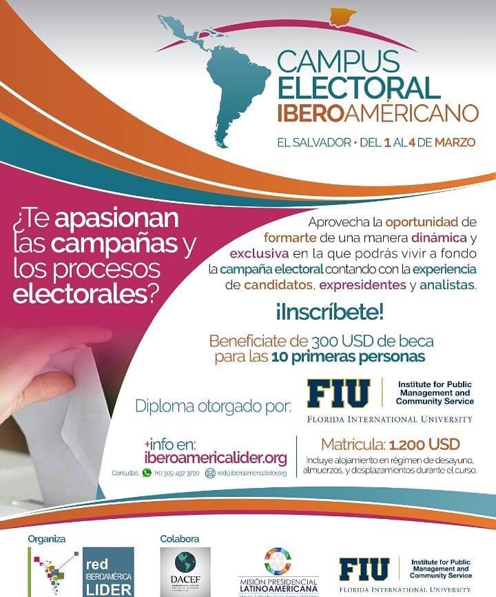 Camino a otra gran actividad de @IberoLIDER , ya han pasado 4 años desde que inició esta aventura en favor de la democracia, sin titubear seguiremos trabajando para que en Iberoamérica sea esta cada vez más firme. #CampusElectoral #ElSalvador