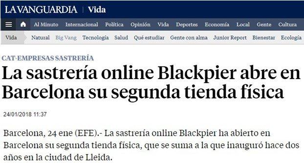 @LaVanguardia es fa ressò de l'obertura a Barcelona de la nova botiga de @Blackpier , empresa que va néixer al CEEILleida https://t.co/WLEB8aI3TR https://t.co/67D66afM2H