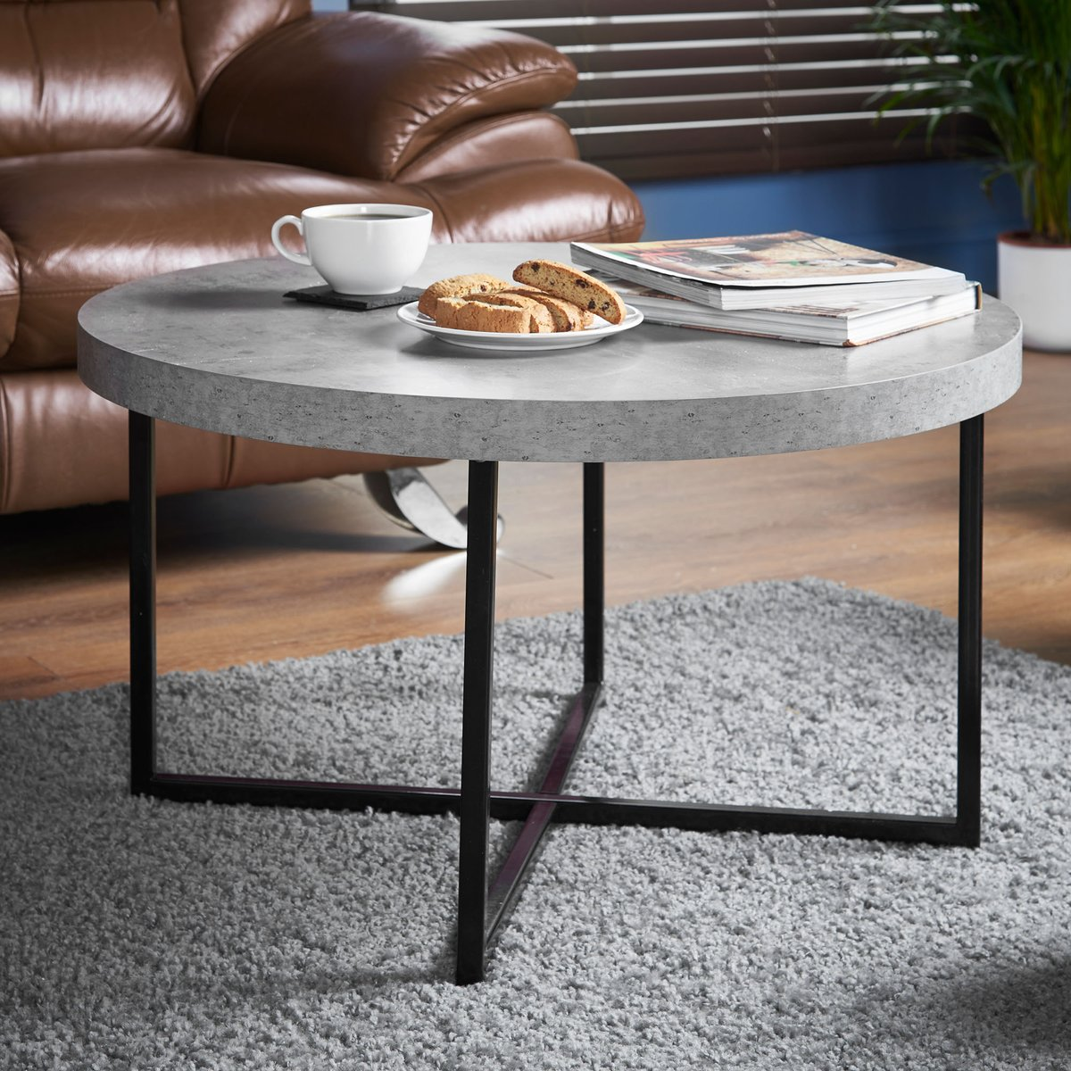 The Concrete Look Coffee Table Boasts A Stylish And Urban Vibe Whilst Being Practical On Trend Matching Side Is Also Available