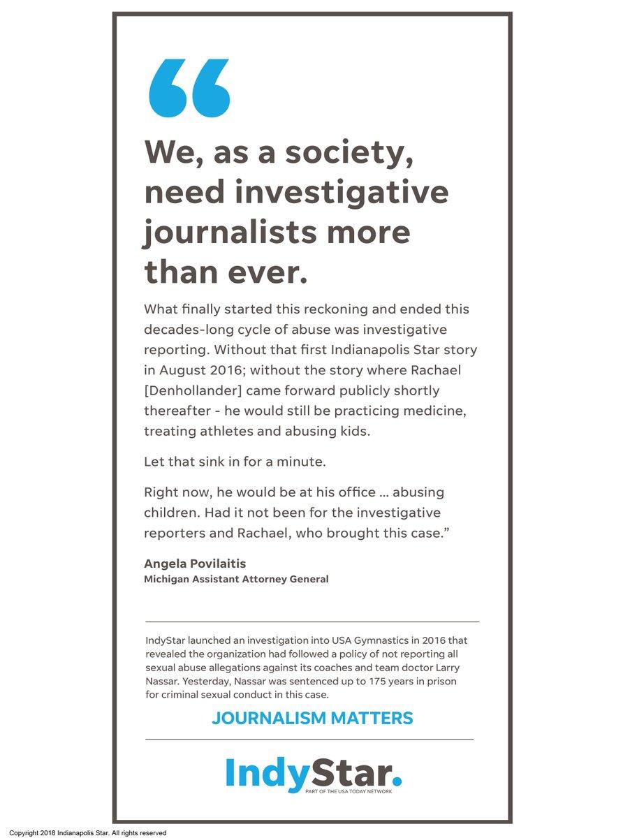 Journalism matters.