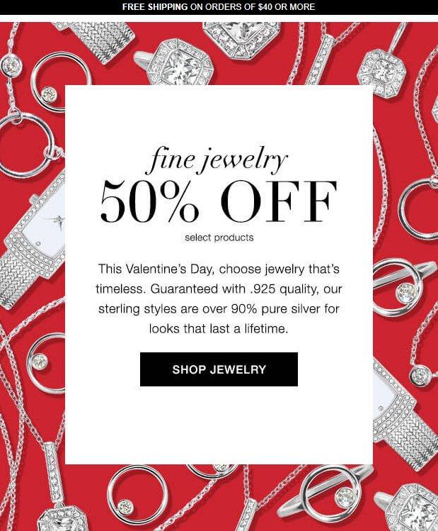 Save 50% On Fine Jewelry at Av...