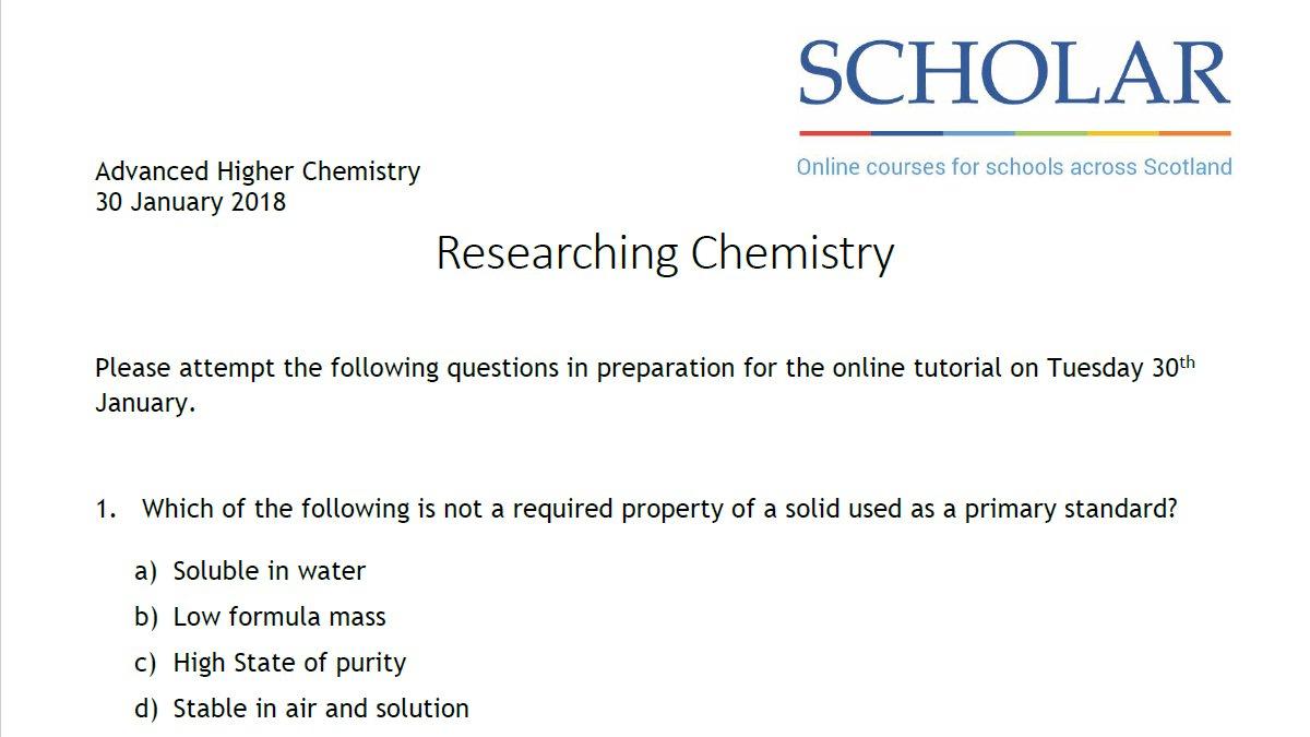 Join us at 6:00 pm tomorrow, Tuesday 30 January  http://heriot-watt.adobeconnect.com/scholarhomework #Chemistry pic.twitter.com/4Q2rHClFLt