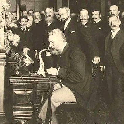 Image result for 1915 – Alexander Graham Bell inaugurates U.S. transcontinental telephone service, speaking from New York to Thomas Watson in San Francisco.