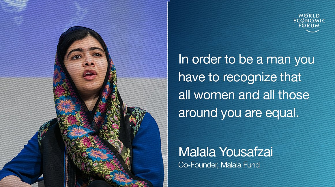 Malala in Davos: We need to teach boys to be men https://t.co/xSQ88Y7bLe