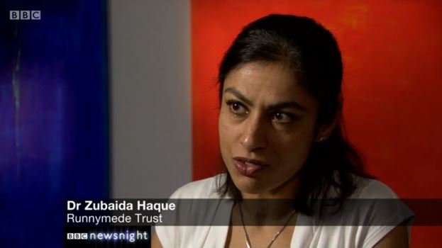 Image result for Dr Zubaida Haque, the deputy director at the Runnymede Trust,
