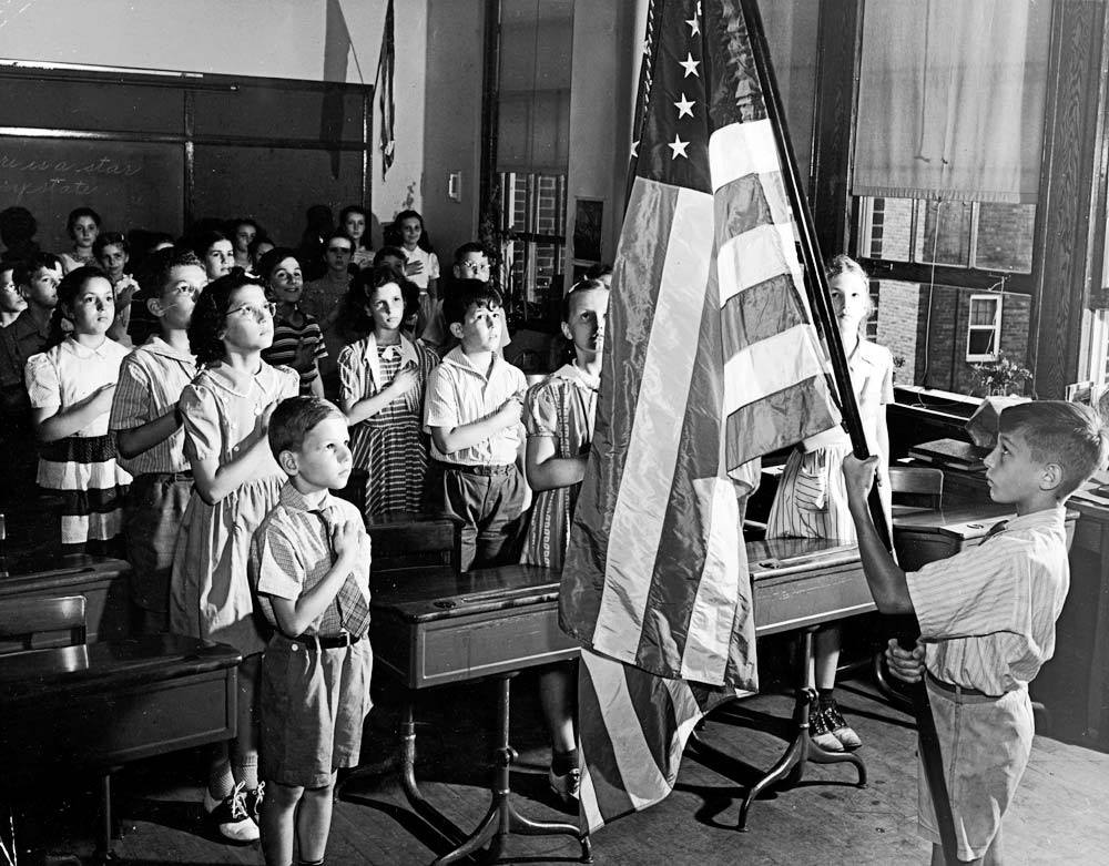 Image result for pledge of allegiance 1950s