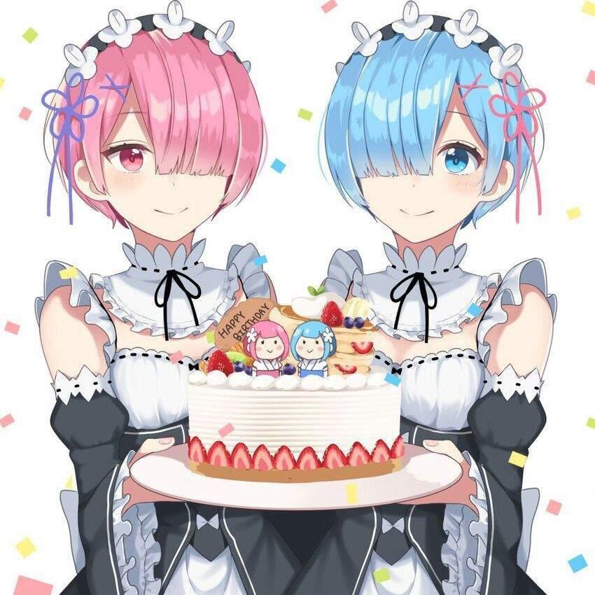 Акценты, аниме открытка на день рождения