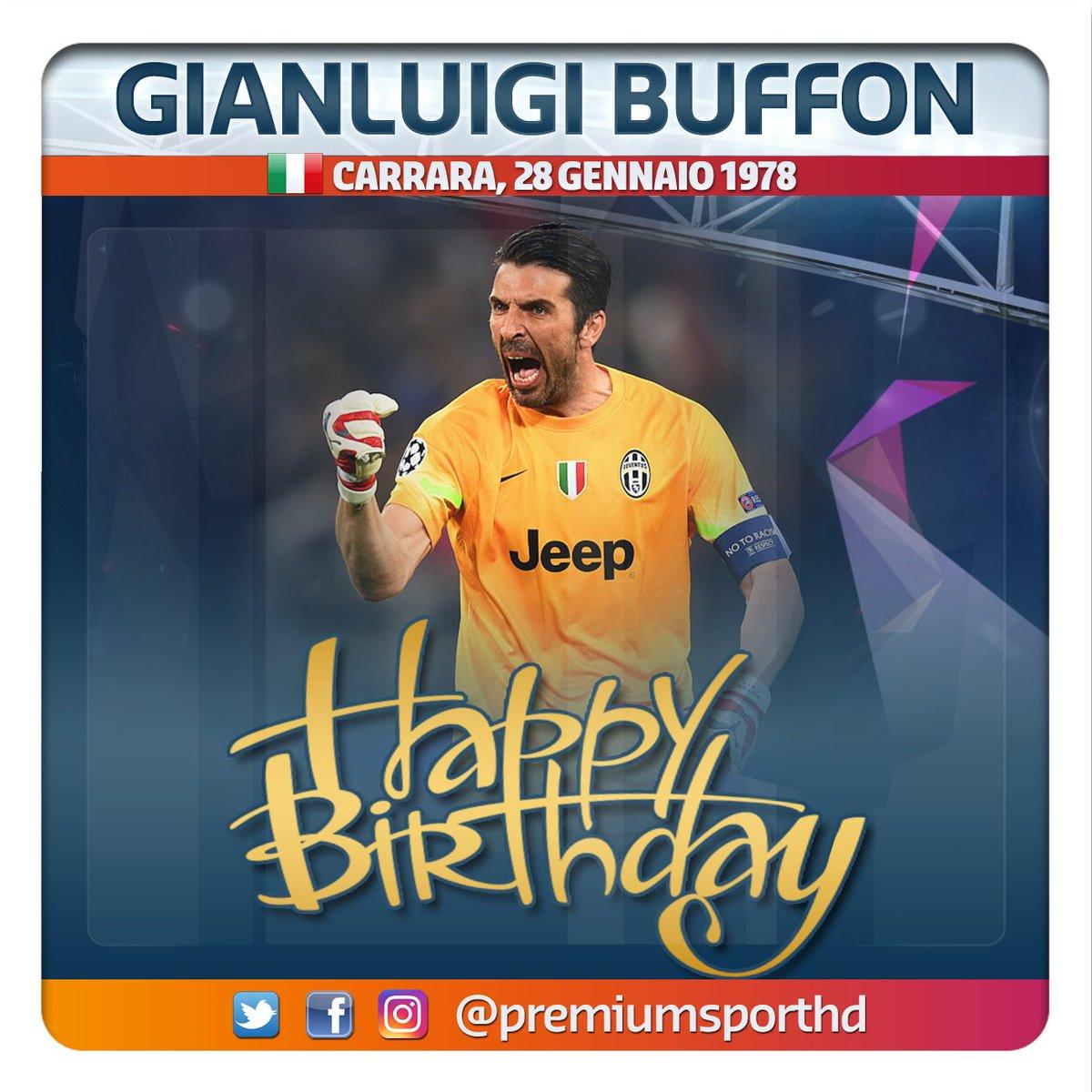 #buoncompleanno Oggi compie 40 anni #Buffon. Considerato uno dei migliori portieri di sempre, il capitano bianconero vanta 638 presenze e 8 scudetti vinti in 17 stagioni con la #Juventus. Oro Mondiale 2006 ha difeso la porta della #Nazionale in 175 partite. Auguri Gigi! 🎂