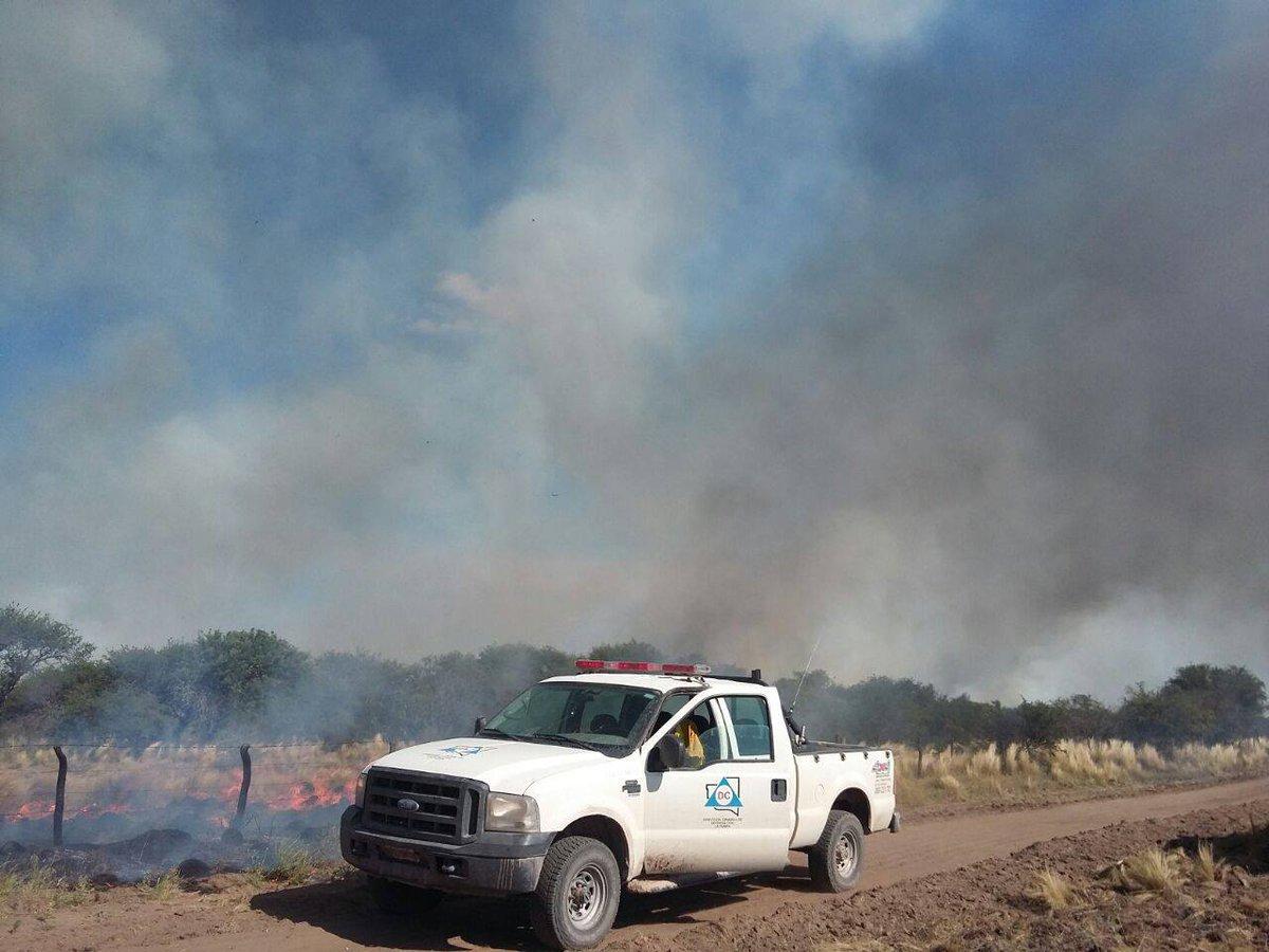 Incendios rurales: sigue activo el foco del Paraje El Carancho