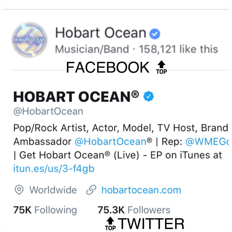 Join the #tens of #thousands that are a part of the #journey with @WMEGco #artist @HobartOcean on  http:// Facebook.com/HobartOcean  &nbsp;   and  https:// Twitter.com/HobartOcean  &nbsp;   #HobartOcean #HO #Hobos #HobartOceanFans <br>http://pic.twitter.com/k8O4YdA1z2
