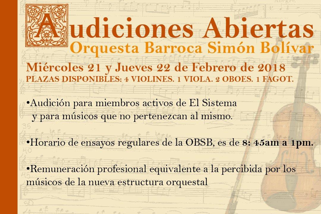 Cnaspm On Twitter Audicionesabiertas De La Orquesta