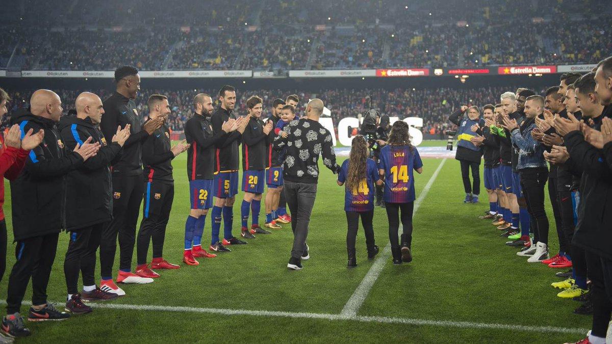 «Barselona» Xaver Maskerano bilan xayrlashdi (foto)