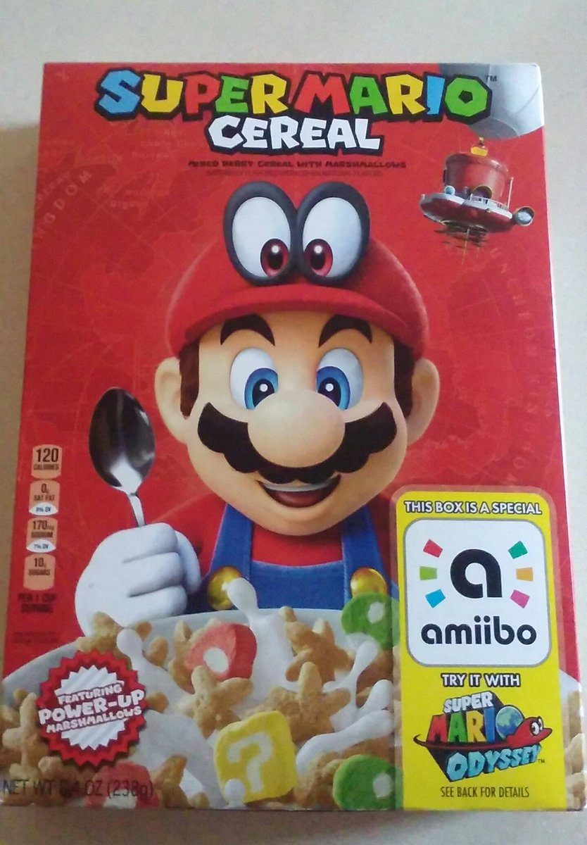 Amiibo Super Mario Odyssey Mixed Cherry Cereal Featuring Power Up